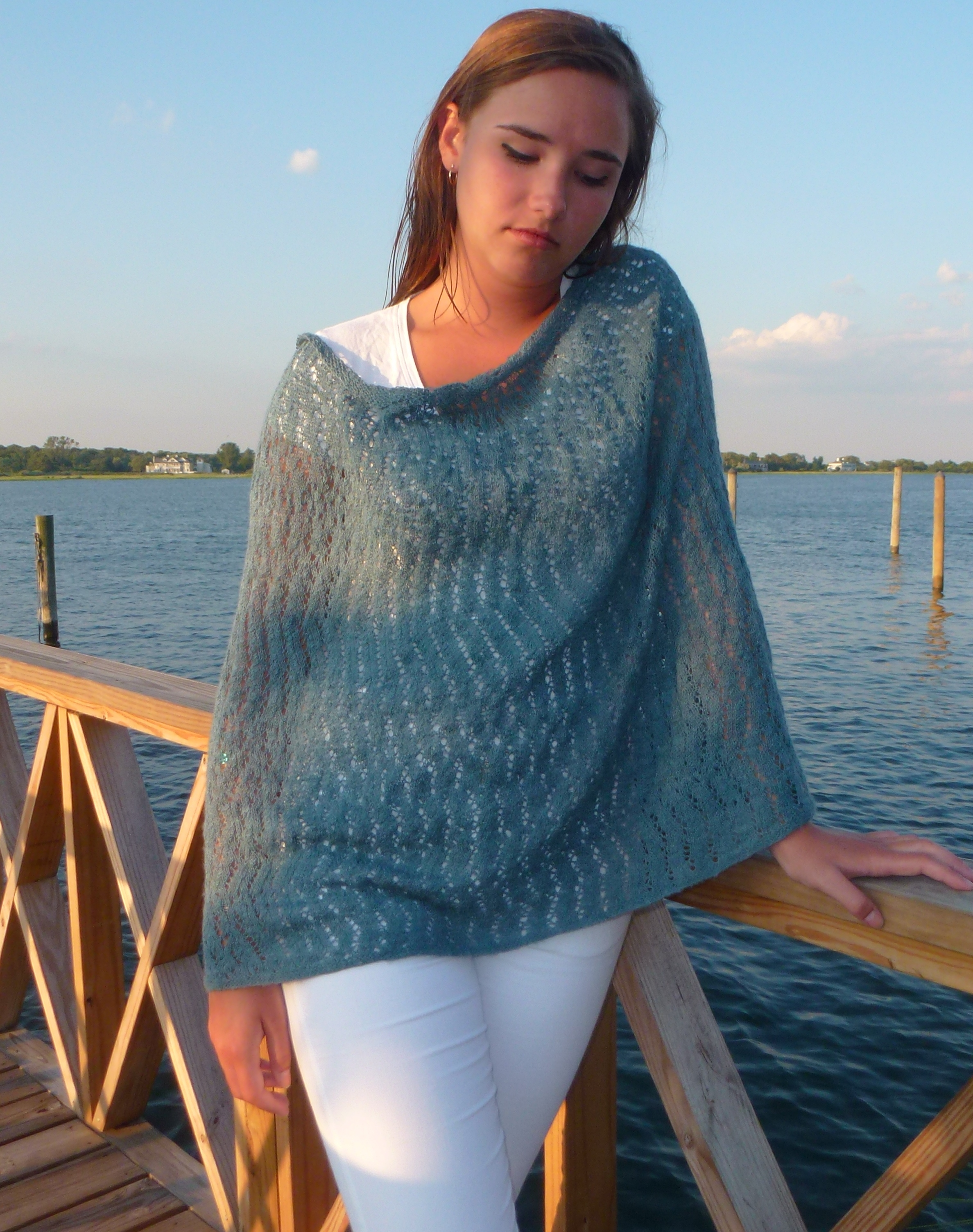 Lace Knitting on the Beach | Ehdknits