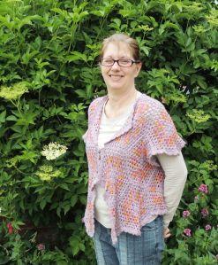Lindsay own crochet design in Lustre Silk