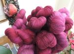 Hand dyed Marsal yarn