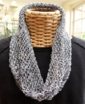 Silk Lurex cowl