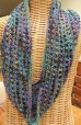beaded silk cowl
